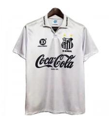 Maillots de football rétro Santos pour hommes Maillots de football à domicile uniformes 1993