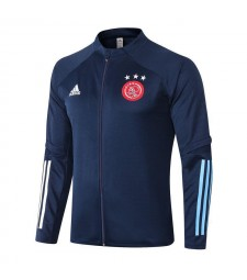 ajax royal blue long zipper jacket tracksuit sportswear training wear 2020-2021
