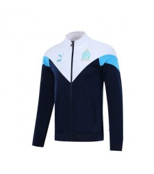 Olympique De Marseille White Dark Blue Jacket 2019-2020