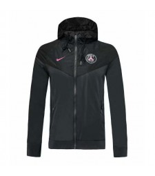 Veste à capuche noire Paris Saint Germain 2019-2020