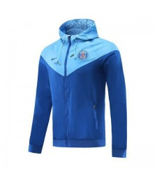 Paris Saint Germain Light Blue And Dark Blue Soccer Windrunner 2020
