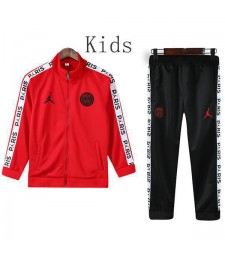 Jordan Paris Saint Germain Rouge Enfants Veste Costume Noir Logo 2019-2020
