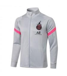 Jordan Paris Saint-Germain Light Grey Soccer Jacket Pants Mens Football Survêtement Uniformes 2021-2022