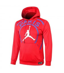 Jordan Big Logo Paris Saint-Germain Sweat à capuche de football rouge Survêtement de football 2020-2021