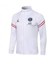 Jordan Paris Saint-Germain Blanc Pantalon De Veste De Football Pour Hommes Uniformes De Survêtement De Football 2021-2022