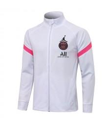 Jordan Paris Saint-Germain Blanc Pantalon De Veste De Football Pantalon De Survêtement De Football Uniformes 2021-2022