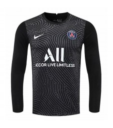 Paris Saint-Germain noir à manches longues gardien de but de football maillot de football uniformes 2020-2021