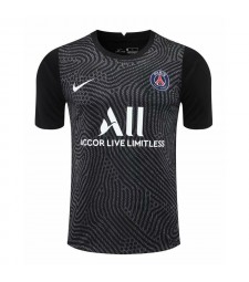 Paris Saint-Germain Gardien de but noir Maillot de football Maillots de football Uniformes 2020-2021