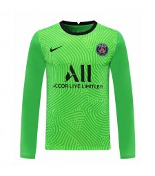 Paris Saint-Germain vert à manches longues gardien de but de football maillot de football uniformes 2020-2021