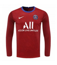 Paris Saint-Germain Rouge À Manches Longues Gardien De But Maillot De Football Maillots De Football Uniformes 2020-2021