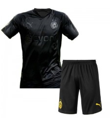 Borussia Dortmund 110 Anniversary Blackout Kids Football Kit 2019-2020