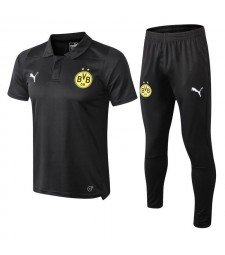 Borussia Dortmund Men Polo+Pant Kit Black 2018/2019