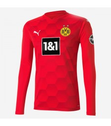 Borussia Dortmund gardien de but rouge à manches longues maillot de football à domicile maillots de football uniformes 2020-2021