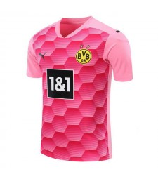 Borussia Dortmund Gardien de but Maillot de football rose Uniformes de football 2020-2021