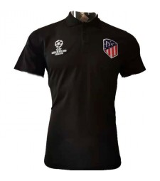 Atletic De Madrid Champions League Version Black Polo 2020