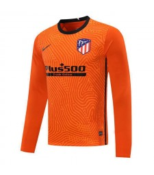 Atletico Madrid Maillot de football à manches longues orange pour gardien de but pour homme 2020-2021