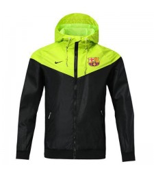 Barcelona Fluorescent Green Windrunner Jacket 2018/2019
