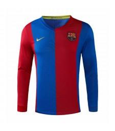 Barcelone rétro manches longues maillots de football à domicile maillots de football pour hommes uniformes 2006-2007
