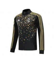 Veste de football noir Real Madrid paillettes d'or 2019-2020