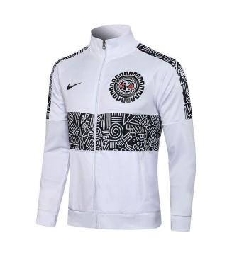 Americas Club Blanc Pantalon De Veste De Football À Col Haut Pour Hommes Uniformes De Survêtement De Football 2021-2022