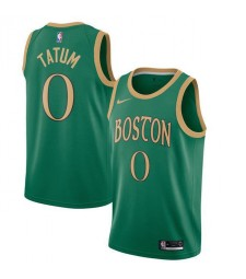 Maillot de basketball Boston Celtics 0 # TATUM vert Swingman 2019-2020