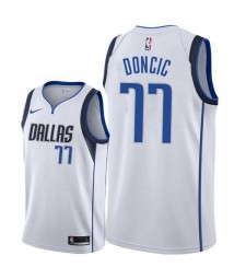 Dallas Mavericks Luka Doncic 77# Jersey White 2018/2019