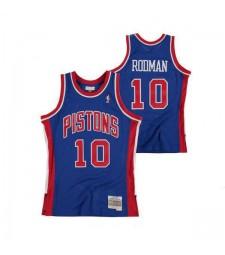Detroit Pistons Dennis Rodman 10# Hardwood Classics Road Swingman Mens Basketball Jersey