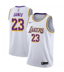 Los Angeles Lakers 23# LeBron James Jersey White 2018/2019