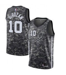 San Antonio Spurs 10# DEROZAN City Edition Black Camo Basketball Jersey 2019-2020