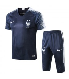 France Men Short Training Suit Kit Royal Blue 2018/2019