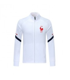 Veste de football blanche France Logo rouge 2019-2020