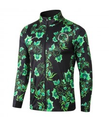 Nigeria Flower Print Black Jacket 2018/2019