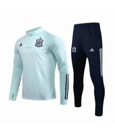 Spain National Team Pink Green Soccer Tracksuit 2019-2020