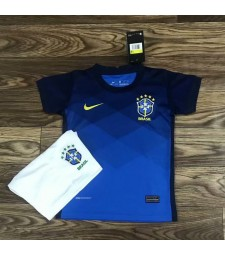 Brésil Away Kids Kit Soccer Enfants Football Shirt Youth Uniforms 2020