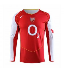 Arsenal Retro Home Maillots de football à manches longues Hommes Maillots de football Uniformes 2006