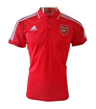 Arsenal Polo Maillot Entraînement Football Soccer Rouge Sportswear T-shirt 2019
