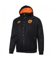 Chelsea Black Soccer Windrunner Orange Logo 2020