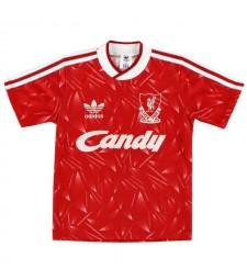 Liverpool maillot de football rouge rétro chemises de football pour hommes 1989-1991