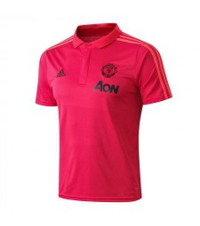 Manchester United Pink Polo Shirt 2018/2019