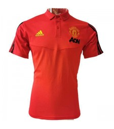 Manchester United Polo Jersey Mens Football Training Jersey Red Soccer Team Sportswear T-shirt 2020