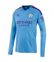 Maillot de foot manches longues Manchester City Home 2019-2020