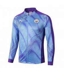 Kit de formation Manchester City Blue Jacket Full Zipper pour Hommes 2019-2020