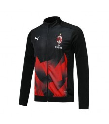 Veste de football noir AC Milan impression rouge 2019-2020