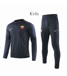 Survêtement de football enfant Roma Dark Blue Round Neck 2019-2020