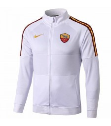 Comme manteau de football en plein air d'entraînement de football de veste blanche de football de Roma White 2019-2020
