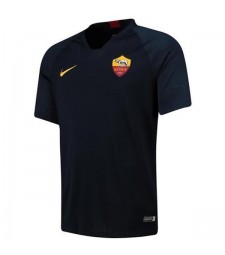 As Roma Training - Maillot de football pour homme en noir, or et football 2019-2020