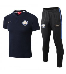 Inter Milan Men Polo+Pant Kit Royal Blue 2018/2019