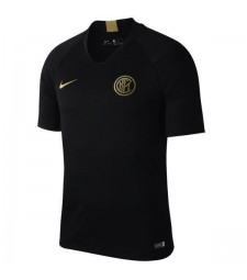 Maillot d'entraînement de Milan Inter Black Shirt de Football Or 2019-2020