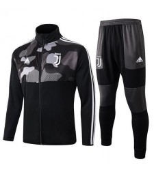 Juventus Black White Camouflage High Neck Jacket Kit 2019-2020