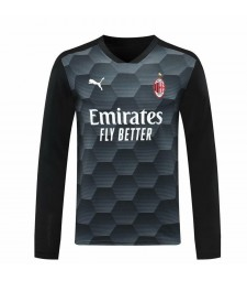 AC Milan gardien de but à manches longues maillot de football noir maillots de football uniformes 2020-2021
